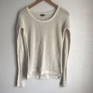 Express Cream Metallic Knit Sweater Sz small
